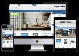 ساخت وب سایت فروشگاه اینترنتی سازگار آنلاین
