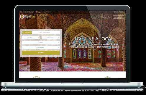 طراحی سایت گردشگری اورینت سیتی