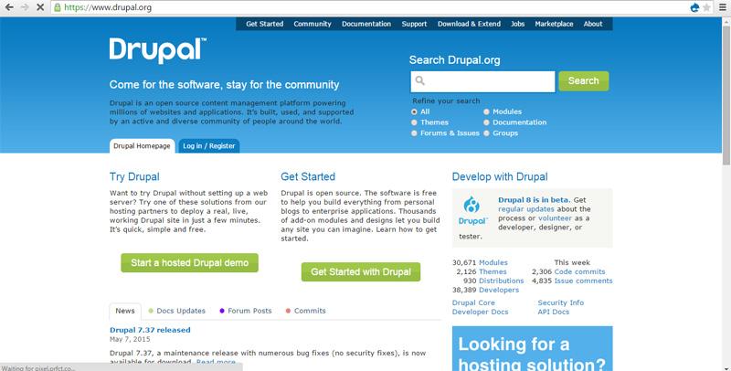 طراحی سایت با دروپال | سیستم مدیریت محتوا دروپال