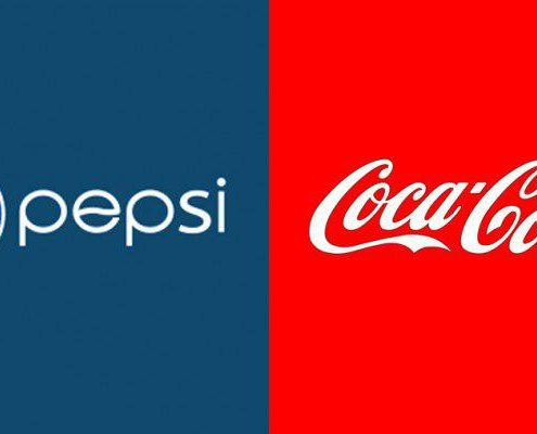 طراحی سایت کوکاکولا در مقابل پپسی