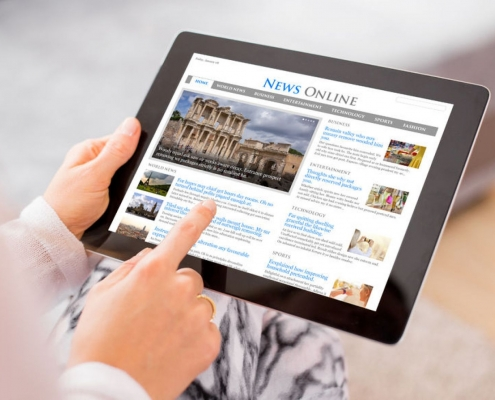 طراحی وب سایت مجله آنلاین
